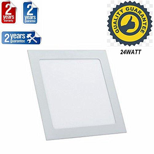 TDRSHINE LED-Downlight, quadratische Ultrathin-Panel-Leuchten, LED-Einbauleuchte, AC85-265V, LED-Treiber enthalten (24W)