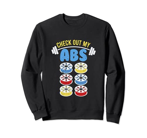 Check Out My ABS | Funny 3D Printing Plastic Filament Sweatshirt