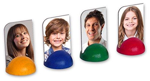 Luudoo Personalisierte Foto-Spielfiguren - Bedruckt mit ihren Bildern (4 Figuren in 4 Farben)