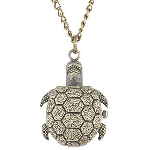 `Star Empty Forma Creativa de la Tortuga de Reloj de Bolsillo varón aleación de Bronce Caso Masculino Regalo Pendiente del Reloj de los niños