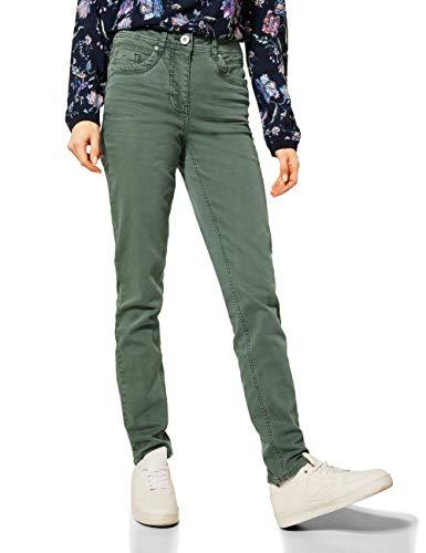 Cecil Damen 373797 Style Toronto Slim Fit High Waist Jeans, Soft Khaki, W30/L30