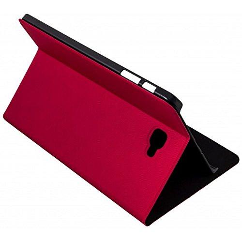 Silver HT - Funda para Samsung Galaxy Tab A de 10.1' (TAB A 10 SM-T580 y SM-T585) Rojo