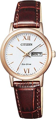 [シチズン] 腕時計 シチズン コレクション エコ・ドライブ EW3252-07A ブラウン