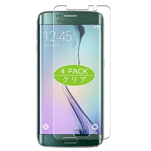 VacFun 4 Piezas HD Claro Protector de Pantalla Compatible con Samsung Galaxy S6 Edge softbank au SCV31 docomo SC-04G, Screen Protector Película Protectora (Not Cristal Templado) New Version