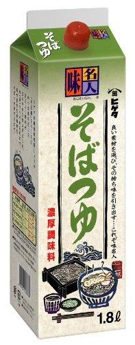 ヒゲタ 味名人 そばつゆ1.8L紙パック【入り数3】