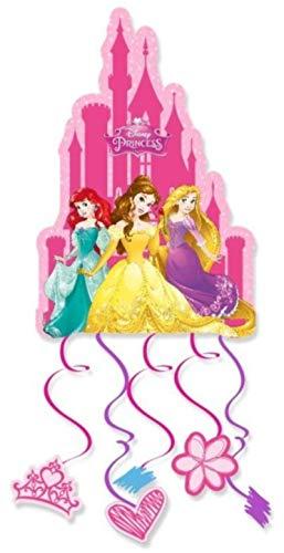 Set de 2 Piñatas Infantiles Decorativas'Princesas Disney 28x21 cm'. Juguetes y Regalos Baratos para Fiestas de Cumpleaños, Bodas, Bautizos y Comuniones. AB