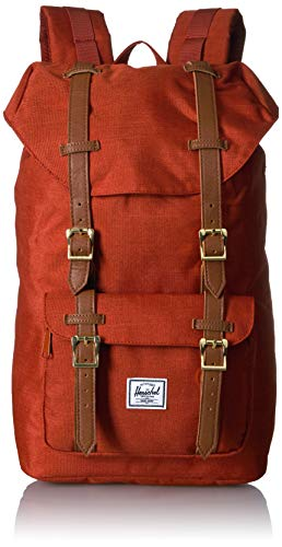 Herschel Unisex Adult Little America Mid Volume Laptop Backpack Red Picante Crosshatch 170L