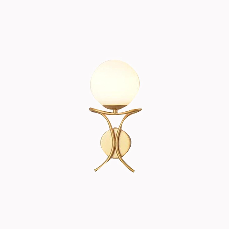 HLP Moderne minimalistische Nachttischlampe Schlafzimmer Wandlampe kreative Persnlichkeit Wohnzimmer Lampe Treppe Gang Korridor Runde Glas Wandleuchte