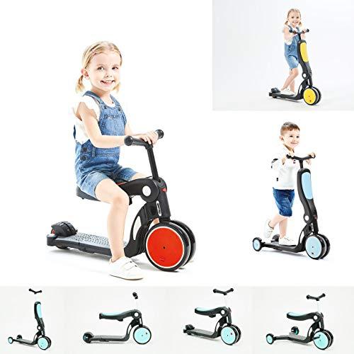 Chipolino Kinderroller, Dreirad, Laufrad, All Ride 4 in 1 höhenverstellbar, Farben:rot