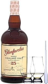 Glenfarclas 25 Jahre Single Malt Whisky 0,7 Liter  2 Glencairn Gläser  Einwegpipette