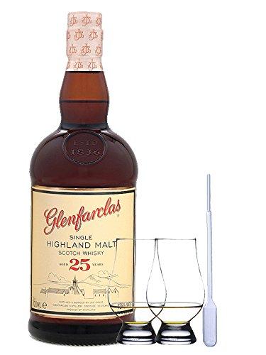 Glenfarclas 25 Jahre Single Malt Whisky 0,7 Liter + 2 Glencairn Gläser + Einwegpipette