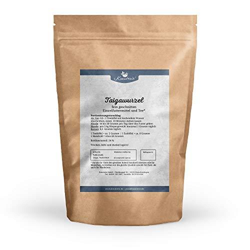 Krauterie Taigawurzel feingeschnitten in sehr hochwertiger Qualität, frei von jeglichen Zusätzen, als Tee oder für Pferde, Hunde und Katzen (Eleutherococcus senticosus) – 500 g