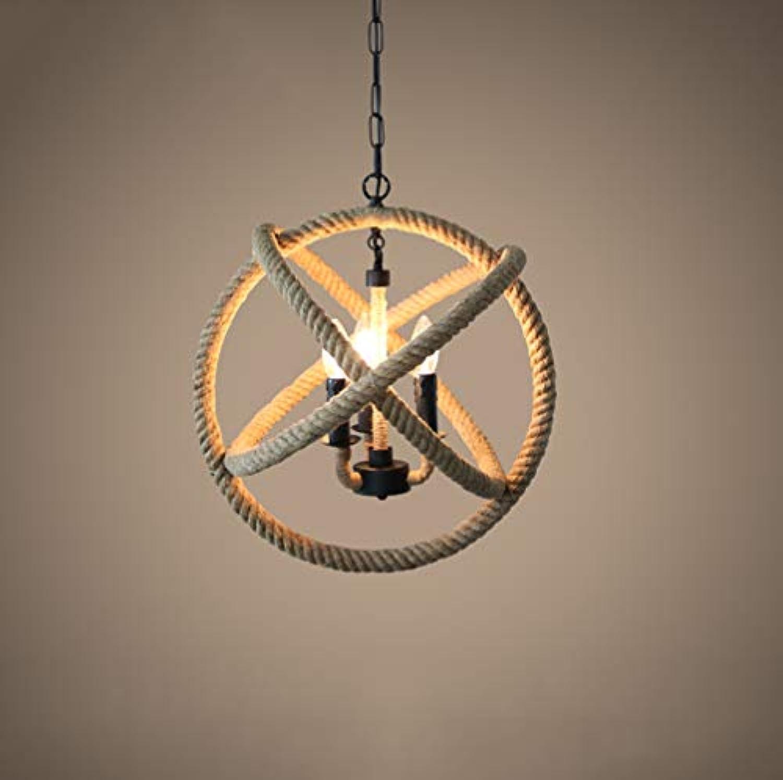 S Modell Hanf-Seil Pendelleuchte Schwarz Eisenkunst Hngelampe Braun Hanfseil Hngeleuchte Seil Lichter E14 mit 3 flammig Hngeleuchten Vintage Retro Hngelampen Küche Schlafzimmer Wohnzimmer