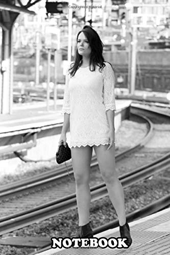 Notebook: A Girl Waiting For The Train , Journal for Writing, College Ruled Size 6' x 9', 110 Pages