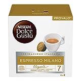 Nescafé Dolce Gusto Espresso Milano Caffè, 6 Confezioni da 16 Capsule (96 Capsule)