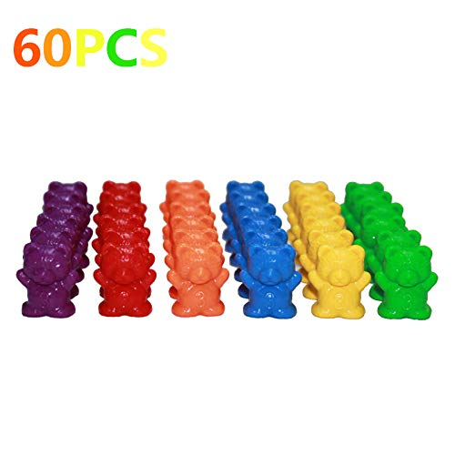 Juego de vasos apilables con dise/ño de osos de conteo perfecto juguetes educativos de clasificaci/ón de colores para beb/és Juego de colores a juego Montessori