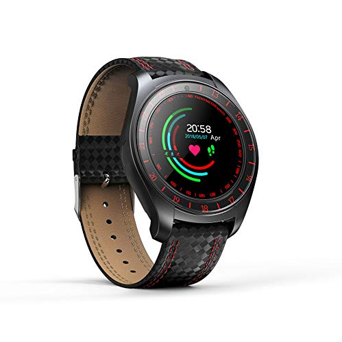 Lbyhning Pulsera de Actividad Inteligente, Bluetooth Pulsera Inteligente Reloj Deportivo Monitor de Ritmo Cardíaco Podómetro Tarjeta Sim Independiente para Android iOS