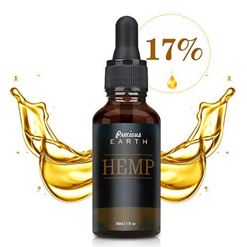 PRECIOUS EARTH - 17 Prozent Hochfeste Öl Tropfen (30ml), Premium Qualität Öl, Natürliche Inhaltsstoffe, Made in USA (5000)