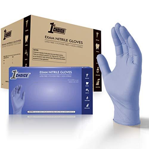 1st Choice Light Indigo Nitrile Exam Gloves, Case of 1000, 3 Mil, Size Large, Latex Free, Powder Free, Disposable, Non-Sterile, Food Safe, 1VSEINL