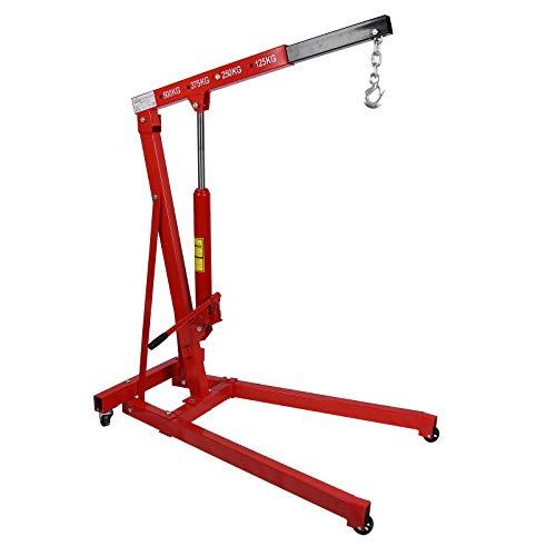 Grúa de taller hasta 500kg con brazo elevador 750-1290 mm para taller, garaje, motor, etc.