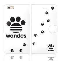 iPhone6SPlus iPhone6Plus 手帳型 ケース カバー WANDES ワンデス B ハート アニマル ワンポイント 面白い 犬 イヌ いぬ