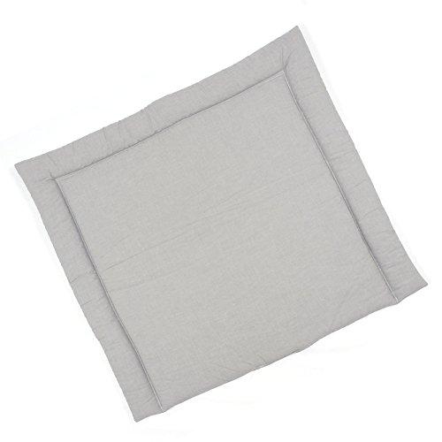 Sugarapple Wickelauflage 75x75 cm (BxH), ca. 3 cm dick mit Oberstoff aus 100% Baumwolle, innen weich und warm wattiert, doppelt abgesteppte Nähte und machinenwaschbar, Uni grau