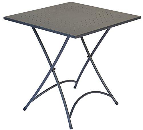 PEGANE Table Pliante en Fer Coloris Gris 70 x 70 cm - A Usage Professionnel