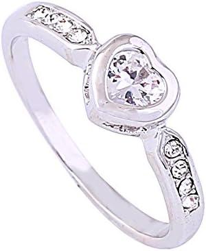 Acefeel Fresh Style Shining Heart Shaped Czech Drilling New York Mall Finally popular brand Promise
