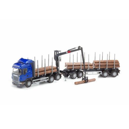 EMEK Scania Highline houten truck en interieurfilter Crane (blauw)