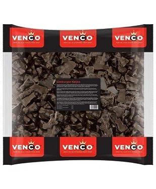 Licorice in 1 Kilo / 2.2lb Bag - Venco Limburgse Katjes Drop Sweet (Holland Lakritze Black Cat Kittens Licorice)