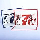 Tarjeta de felicitación del día de la madre,tarjeta de felicitación 3d pop-up,tarjeta de felicitación pop-up 3d con hermoso papel cortado, regalo para el cumpleaños de mamá, sobre incluido