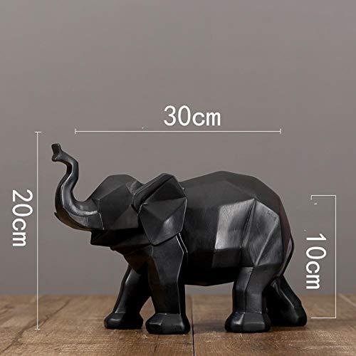 hacpigbb standbeeld geometrisch origami creatieve hars olifant dier standbeeld moderne stijl ambachten kunst creatieve decoratie sieraden