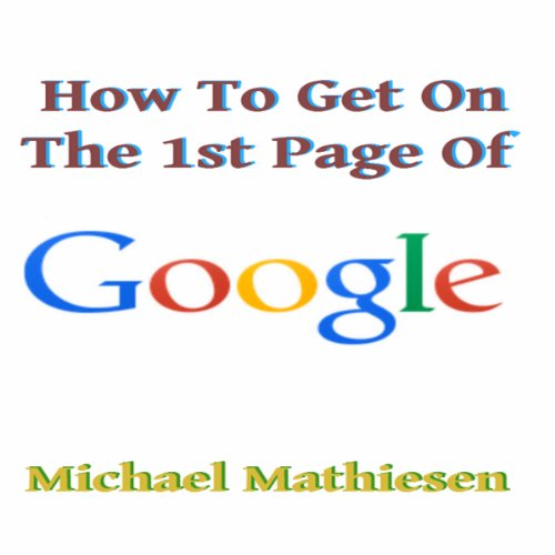 How to Get on the First Page of Google audiobook cover art
