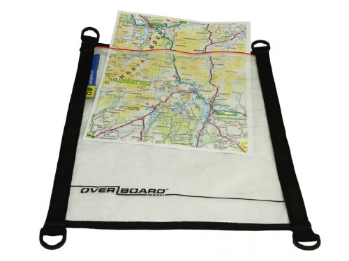 Overboard - Funda Impermeable Protectora para mapas A4 Color Negro/Transparente