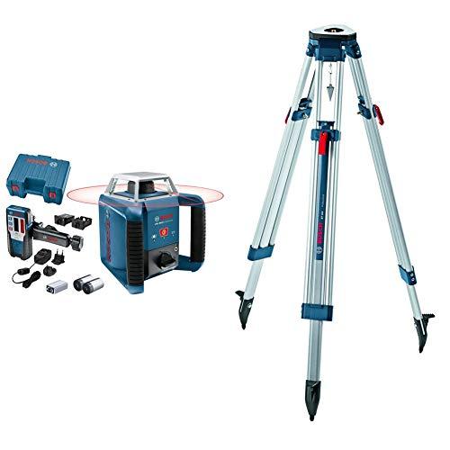 Bosch Professional Laser rotatif GRL 400 H (Commande par bouton unique, Portée: 400 m (diamètre), coffret de transport) & 0601091200 Trépied Bleu, Blanc