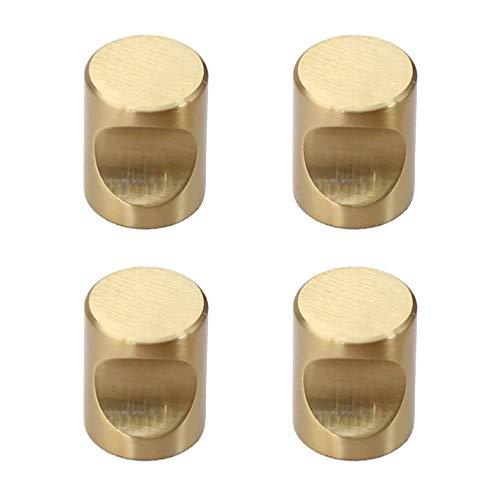 ETTBC Perillas pequeñas de latón Macizo de 4 Piezas, Tiradores de cajón de Armario de Simplicidad nórdica, manija Minimalista