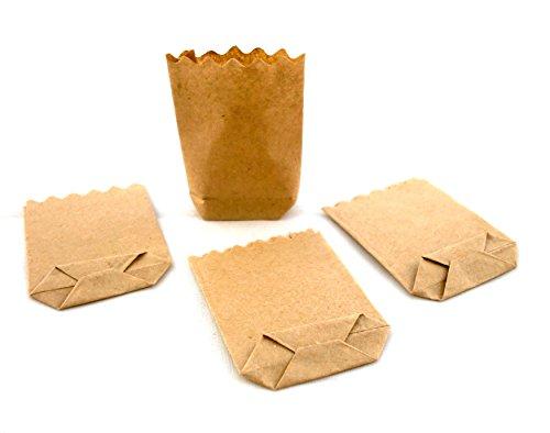 Melody Jane Maison de Poupées Boutique Miniature Store Accessoire 1:12 Échelle Marron Papier Épicerie Sacs