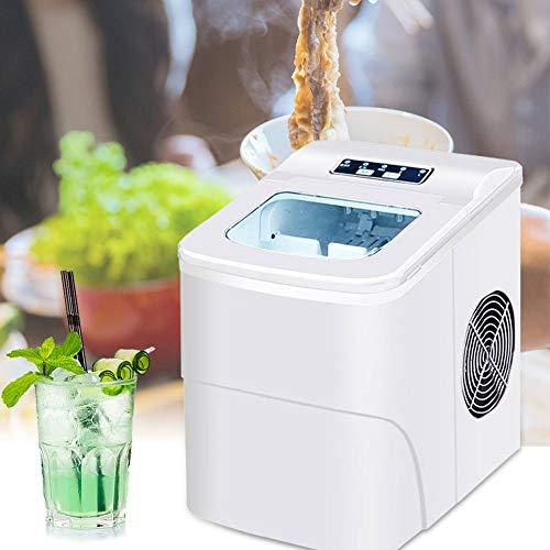 LCLLXB Vollautomatischer runder Eiswürfel Machen Sie 220V 15KG Gewerbe- / Haushalts-Eismaschine Milchteeladen/Café/Kaltgetränkeladen Eiswürfelmaschine