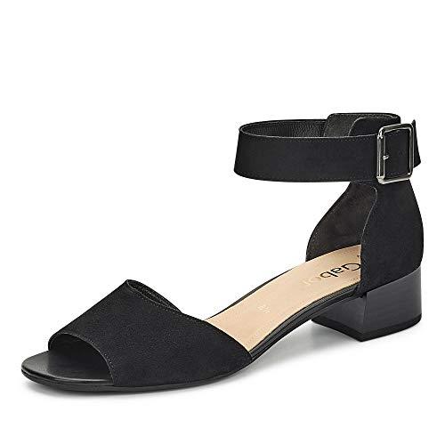 Gabor Comfort Fashion Sandaletten in Übergrößen Schwarz 41.723.17 große Damenschuhe, Größe:43