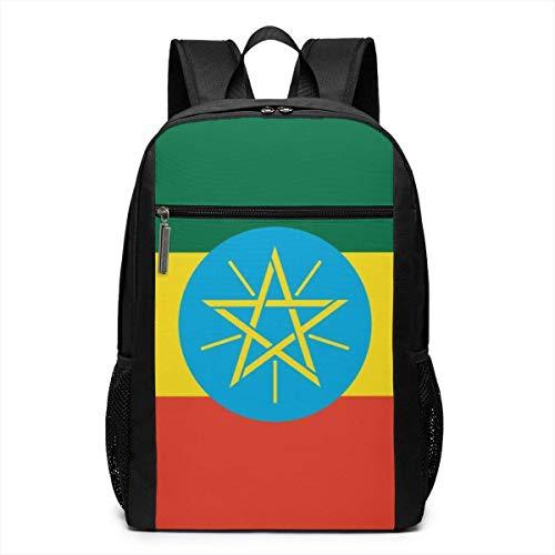 Borsa del portatile Laptop Backpack Ethiopia Flag Business Travel Computer Bag for Women and Men College School Backpack Fits in Laptop Notebook bookbag
