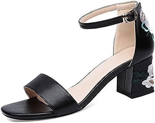 GTVERNH-Chaussures pour Femmes Summer Orteils avec De Gros Orteils Les Les Les Femmes en Sandales à Talons Rome 6 Cm fa0