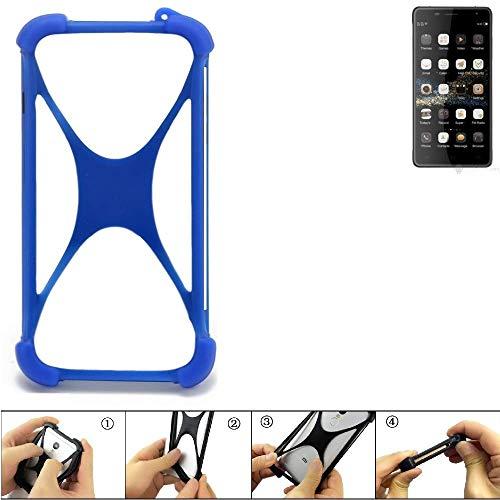 K-S-Trade® Handyhülle Für Oukitel K4000 Plus Silikon Schutz Hülle Cover Case Bumper Silikoncase TPU Softcase Schutzhülle Smartphone Stoßschutz, Blau (1x),
