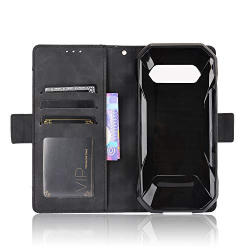 MingMing Lederhülle für Kyocera Torque 5G Hülle, Flip Hülle Schutzhülle Handy mit Kartenfach Stand & Magnet Funktion als Brieftasche, Tasche Cover Etui Handyhülle für Kyocera Torque 5G, Schwarz
