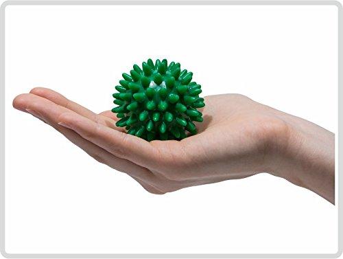 Pflegehome24® Igelball Igel-Ball Noppenball Massageball 5 cm, Grün