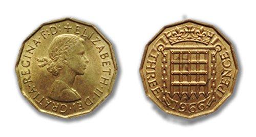 Munten voor verzamelaars - 1966 wereldkampioen van Engeland drie pence stuks/driegrose bit