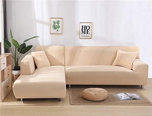 ASCV Fundas de sofá Impresas en Forma de L para Sala de Estar Protector de sofá Antipolvo Fundas de sofá elásticas para sofá de Esquina seccional A4 1 Plaza