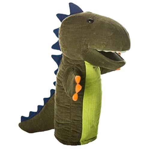 Dinosaurio mano marioneta de peluche animal muñeca juego de rol juguete de sueño historia tiempo juguete para niños cumpleaños Año Nuevo regalo fiesta favores verde JXNB