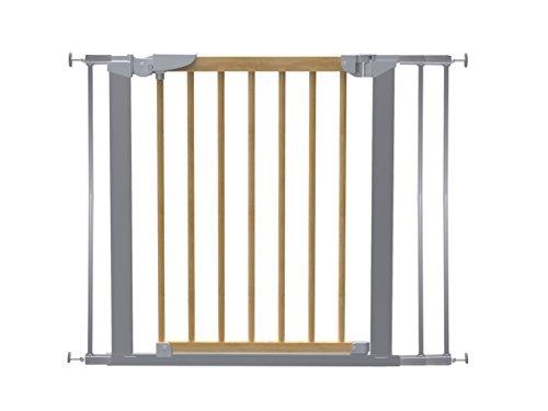 Baby Dan Avantgarde Barrière de sécurité pour porte et escalier à clipser, 71,3-97,6 cm, hêtre/argent