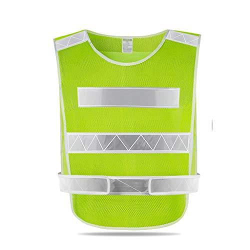 Chaqueta de Alta Visibilidad Reflectante chaleco de carreteras la construcción de edificios de saneamiento ropa de seguridad coche de la noche correr, montar bicicleta, caminar.Operando reflectantes,