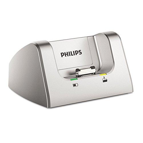 Philips ACC8120 Dockingstation für digitale Philips Diktiergeräte der Serien DPM8xxx, DPM7xxx, DPM6xxx, silber